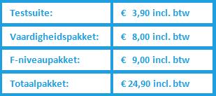 Prijzen en pakketten voor Muiswerk Online.